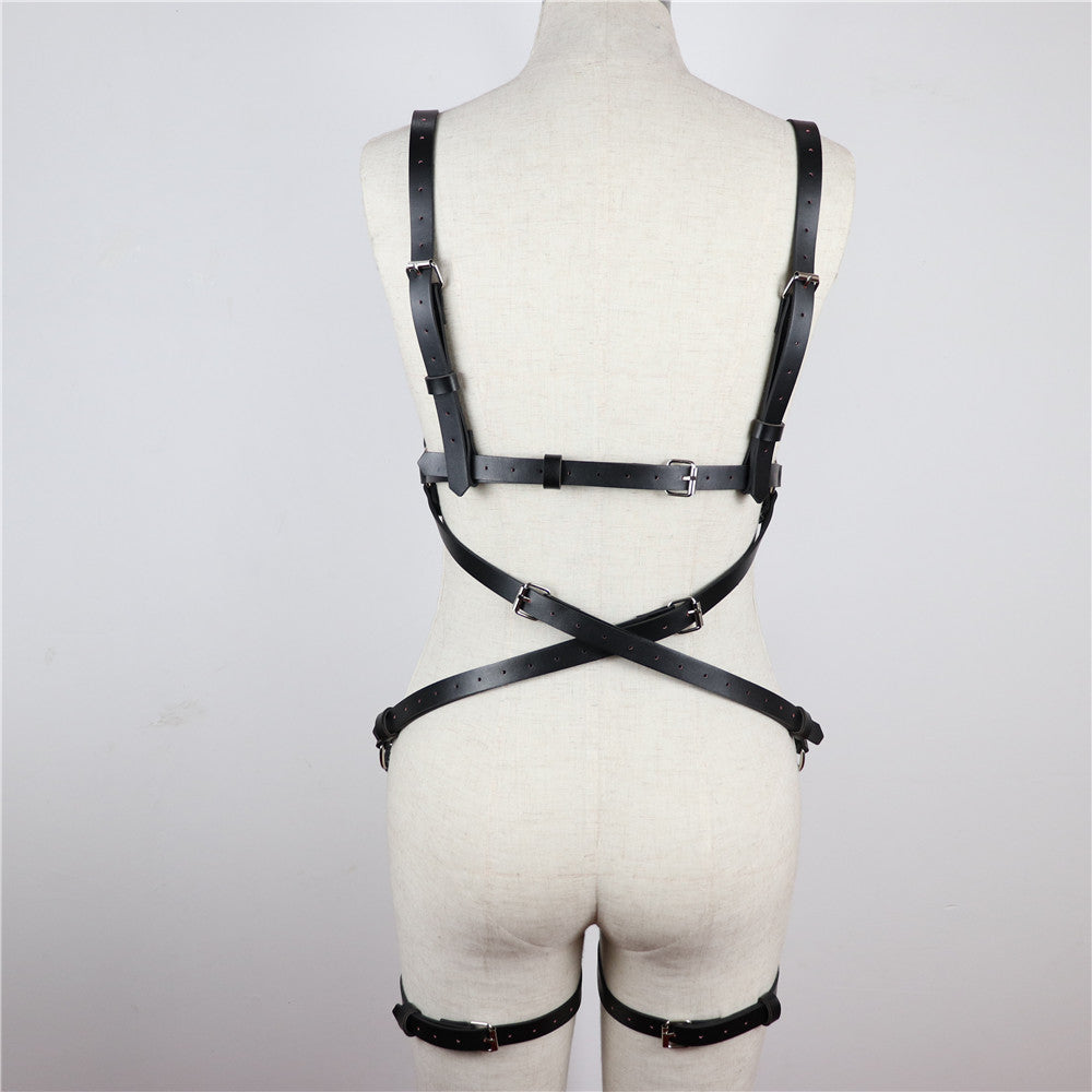 Adjustable Leather Harness Body Strap