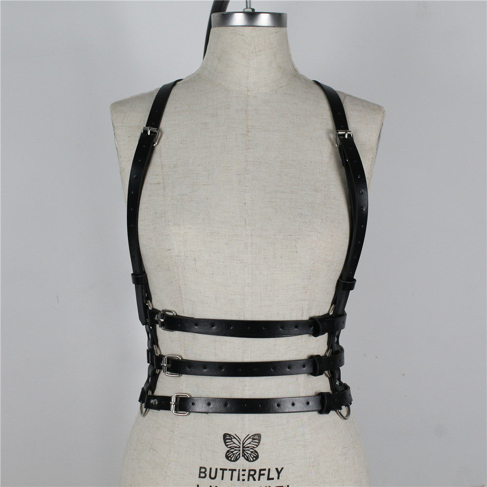 Belt Body Bondage Adjust Cage