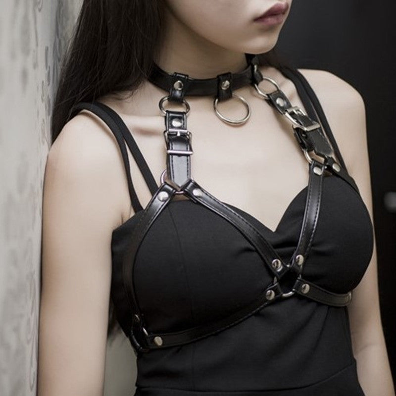 Belts Leather Chest Collar Harness Lingerie