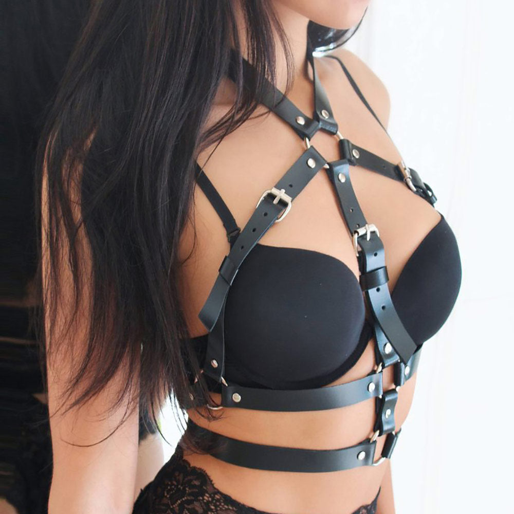 Women Body Bondage Cage Garter Suspender