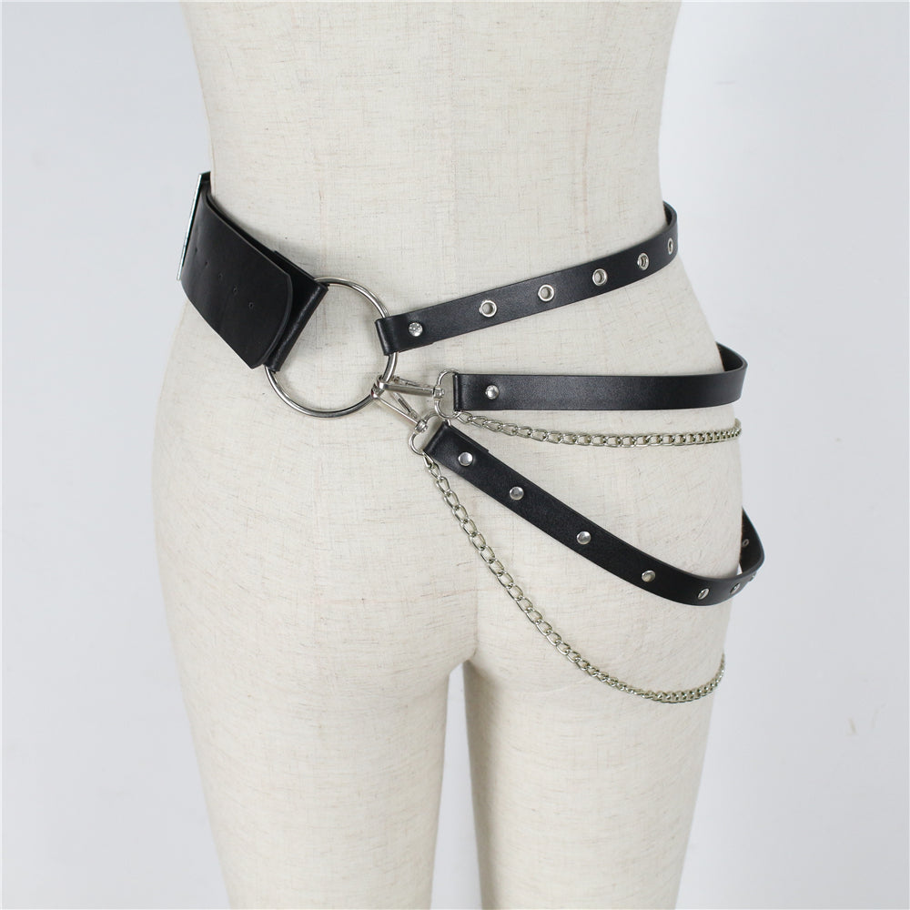 Harajuku Belt Exaggerated Hoop Women Belt