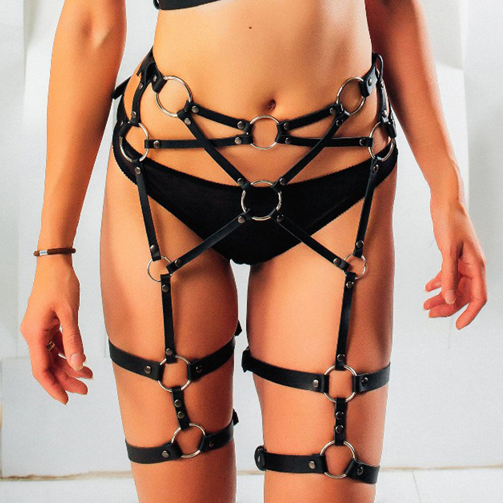 Leather Harness For Women Body Bondage Suit
