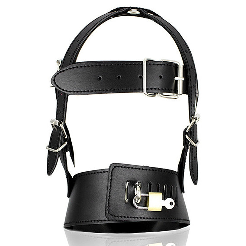 Leather Harness Head Harness PU Mask