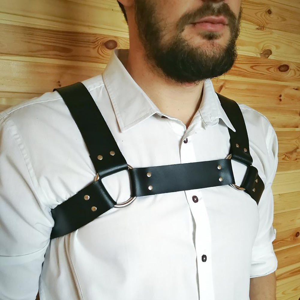Men's Chest Belt Leather Gay Sexy Suspenders