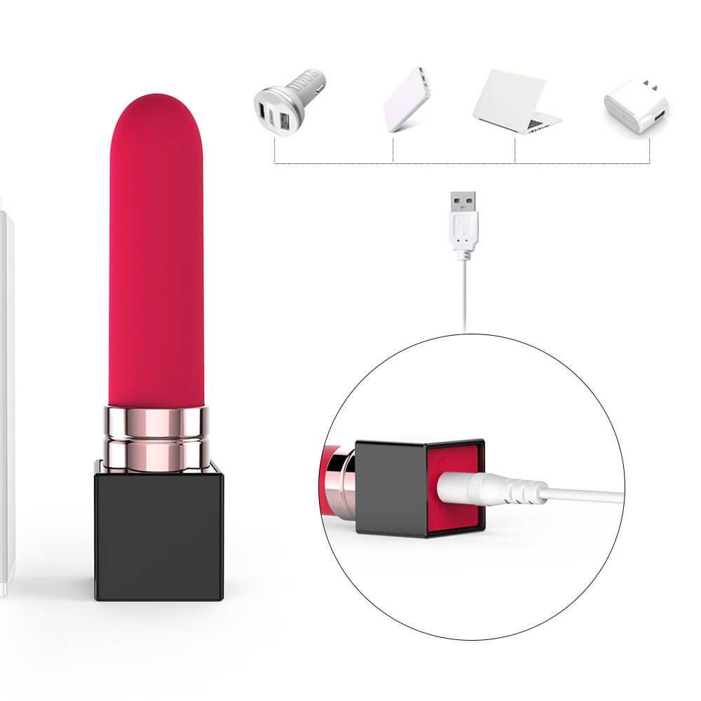Mini Female Powerful Lipstick Vibrator