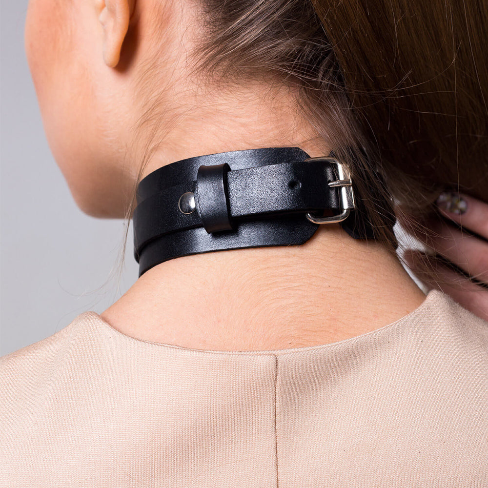 New PU Leather Collar Wide Neck Strap