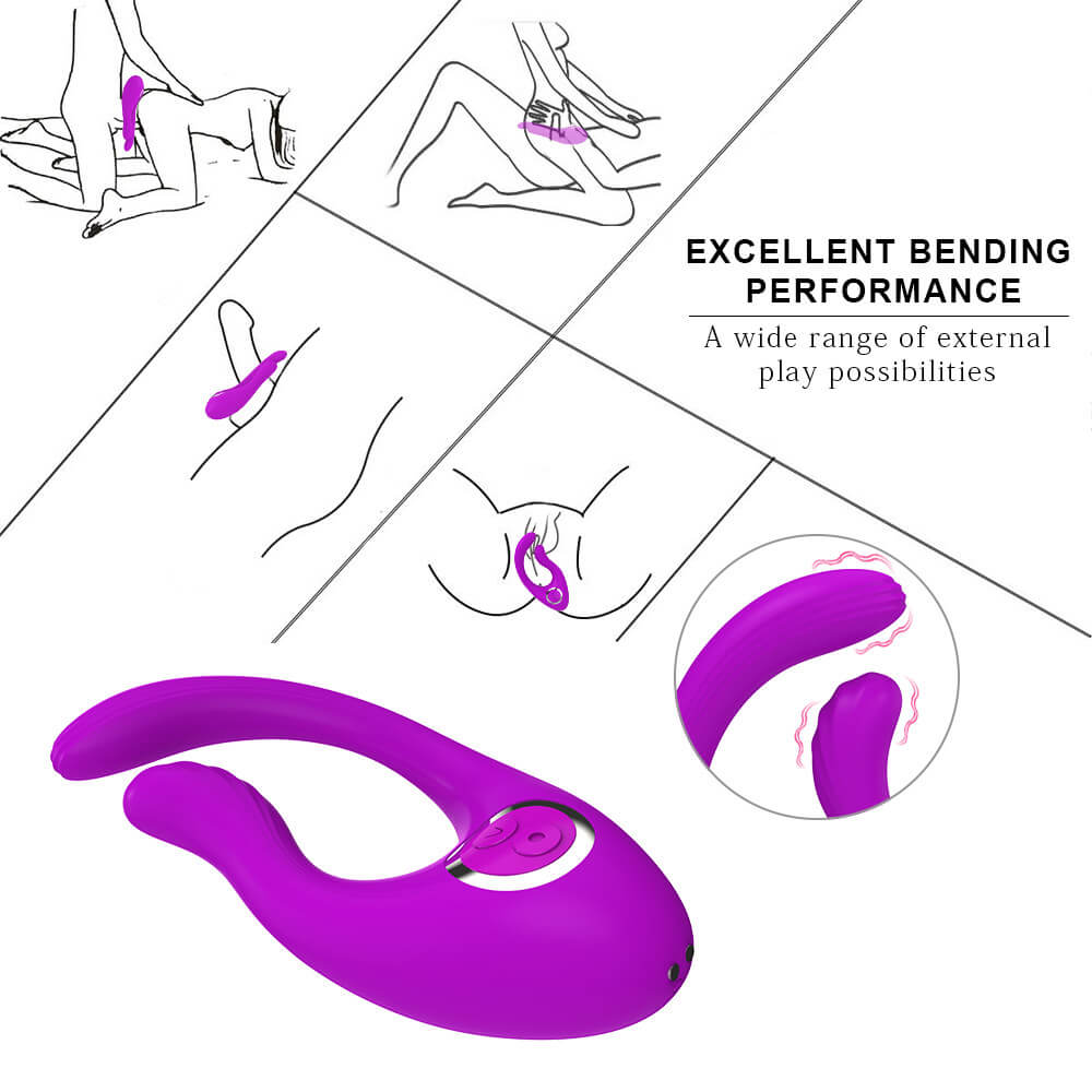 Penis Cock Ring G-Spot Double Head Vibrator