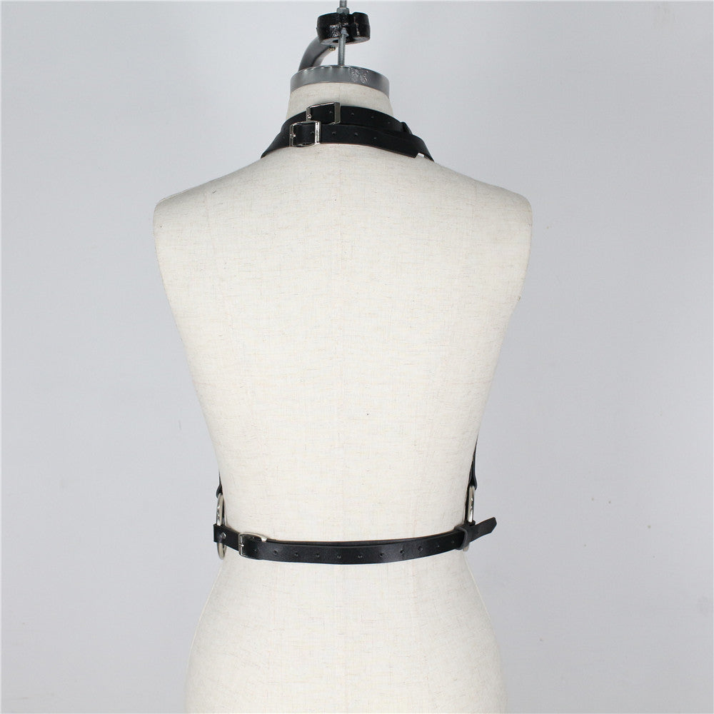 Punk Goth Leather Harness Body Bondage