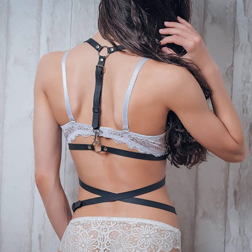 Sexy Suspenders Leather Harness Belts Women Harness