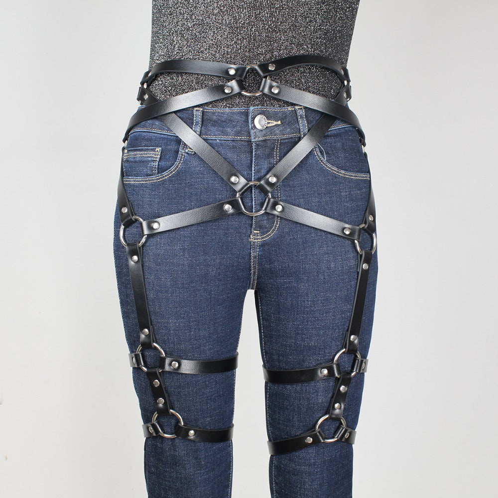 Sexual Leather Harness Sexy Garter