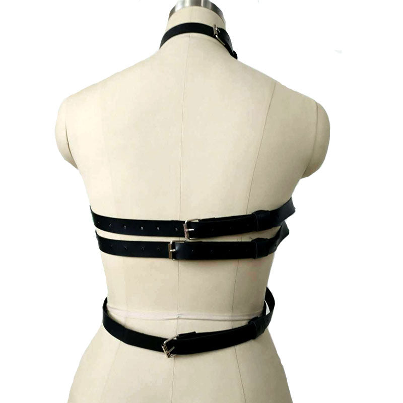 Sexy Chest Strap Leather Garters