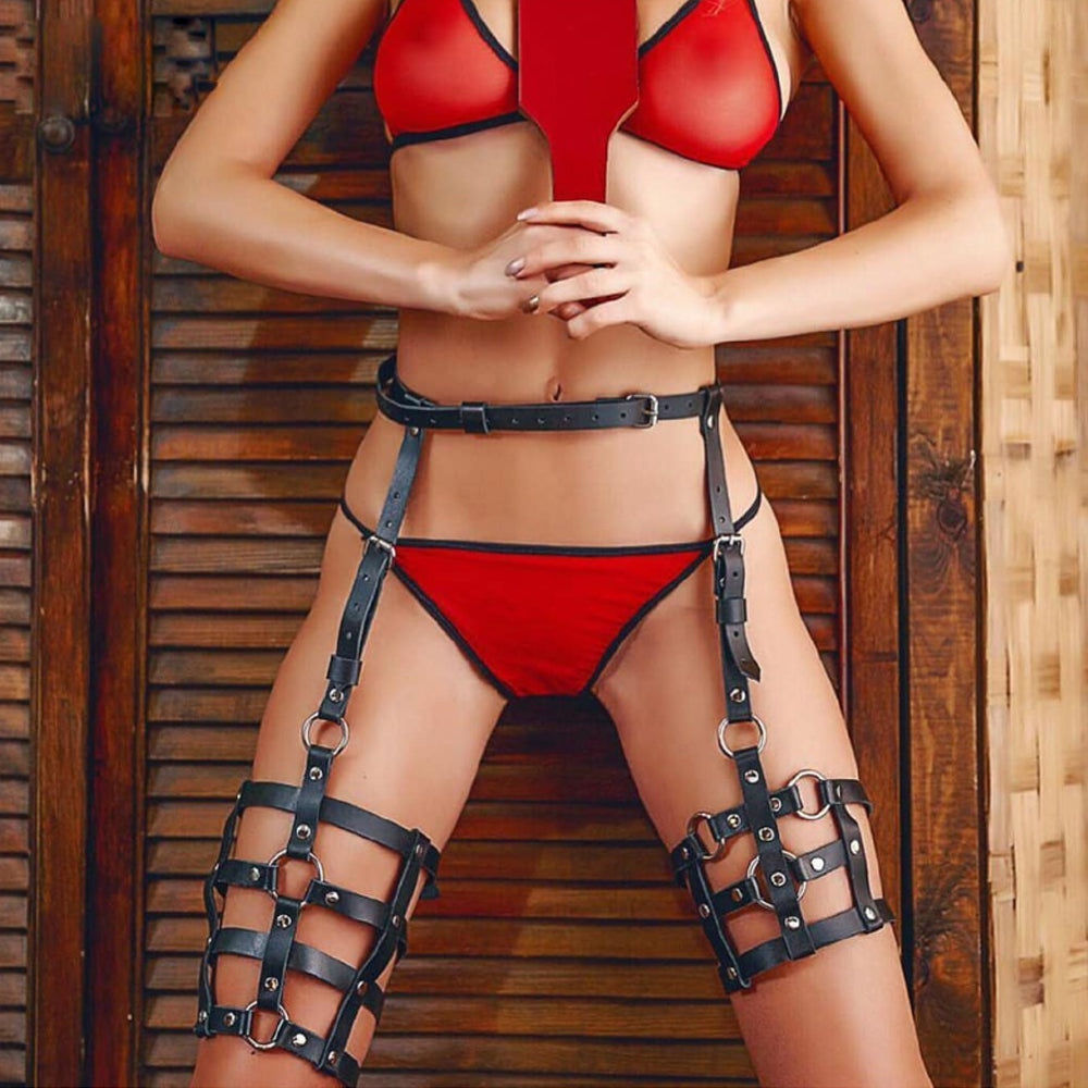 Sexy Women's Leather Harness