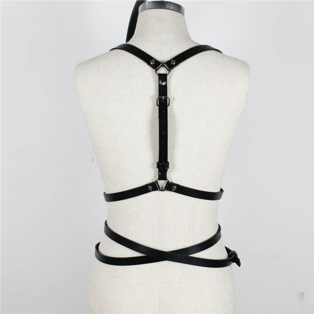 Women Punk Rock Leather Harness