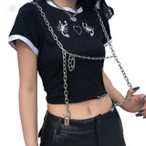 Goth Hip Hop Metal Belt Chain