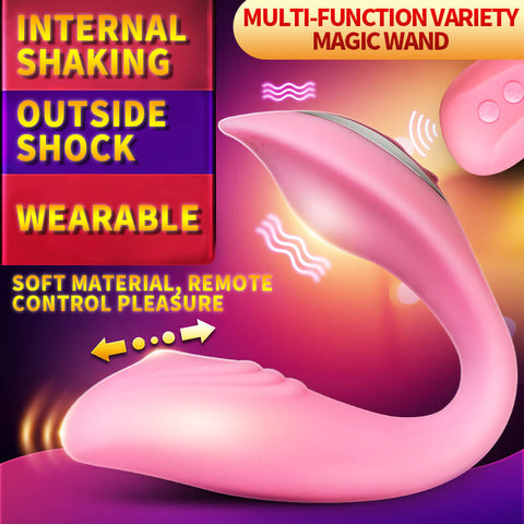 Female Remote Double Clitoral Stimulate Vibrator