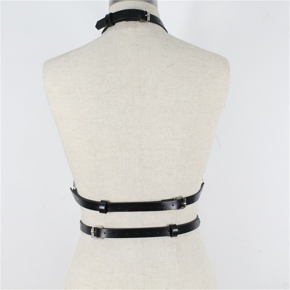 Belt Punk Goth Bra Body Bondage
