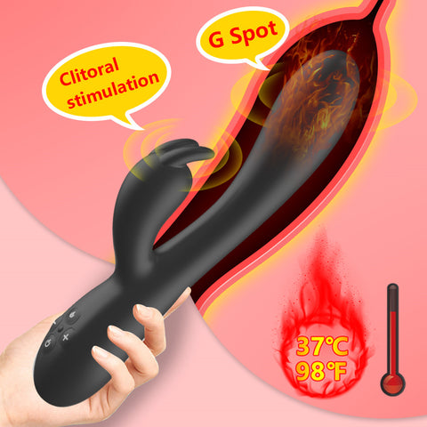 Heating Rabbit Vibrator for Woman