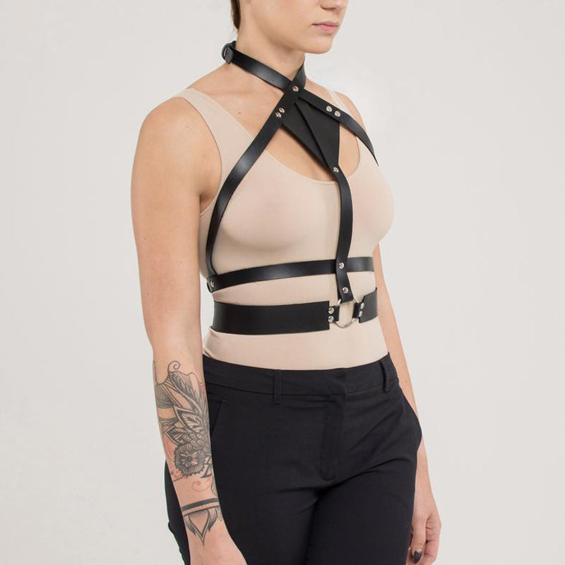 Leather Garter Suspenders Straps Harness