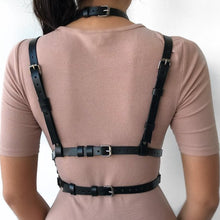 Load image into Gallery viewer, Punk Goth Leather Harness Body Bondage