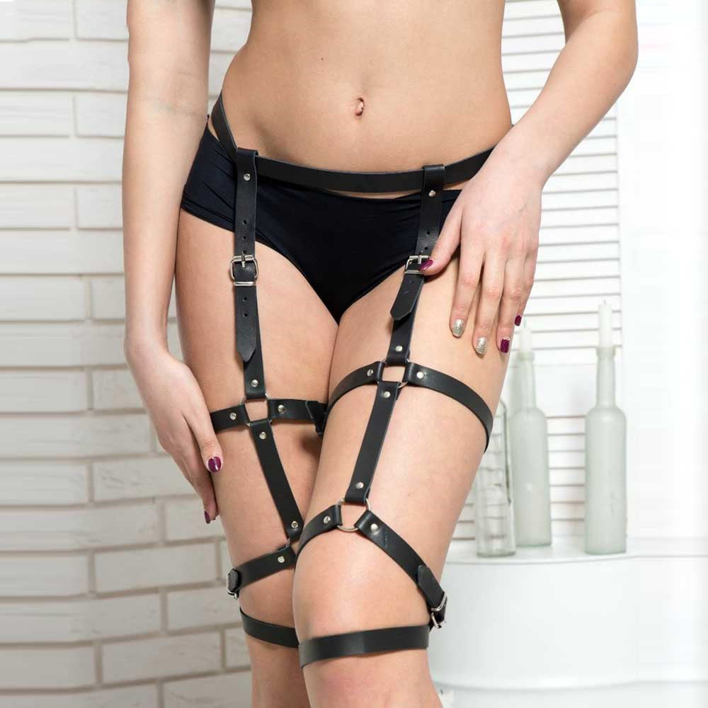 Women Garter Belt Punk Goth Body Cage