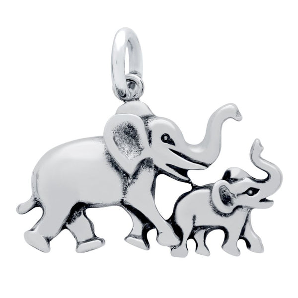 ELEPHANT AND BABY WALKING CHARM