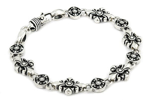 TWISTED BLADE FLEUR DE LIS CROSS LINK BRACELET