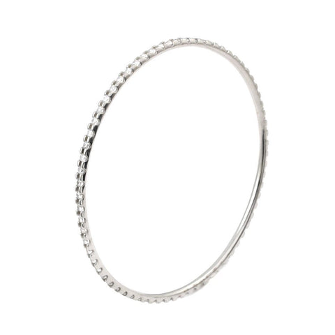 "7"" RHODIUM PLATED ETERNITY CZ BANGLE"
