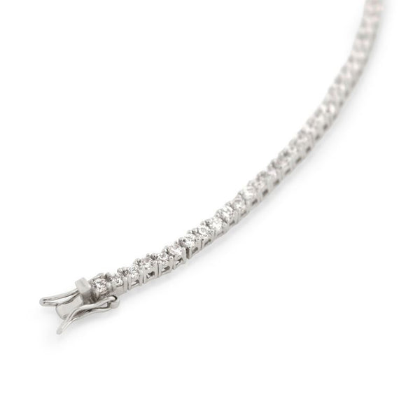 2.5MM RHODIUM PLATED CZ TENNIS BRACELET 7""