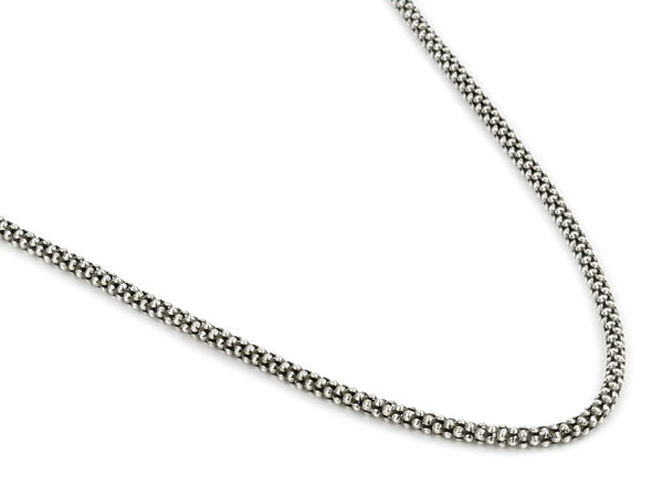 OXIDIZED STERLING SILVER 2.4MM COREANA CHAIN