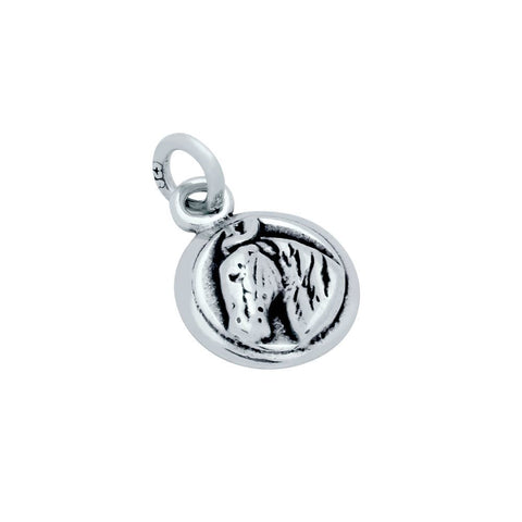 STERLING SILVER HORSE HEAD MEDALLION CHARM