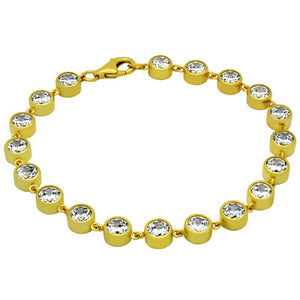 GOLD PLATED 5MM CZ TENNIS BRACELET 7""