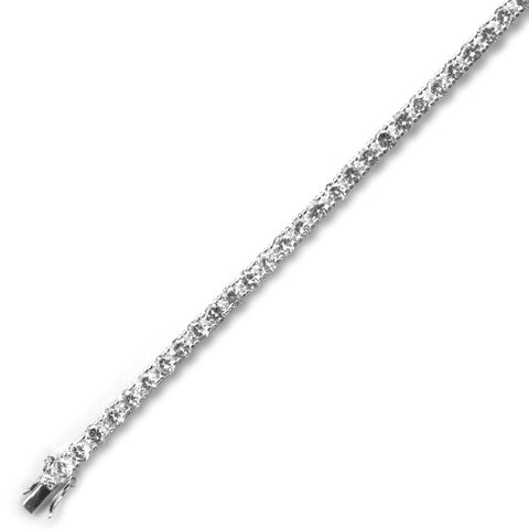 4MM RHODIUM TENNIS BRACELET 7""