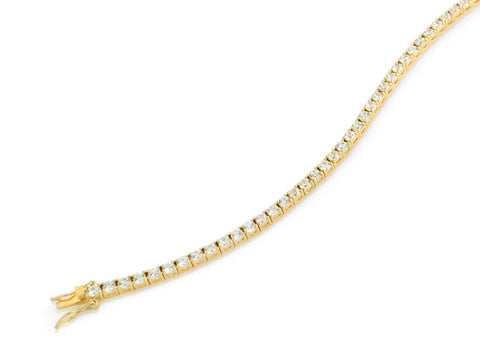 3MM GOLD PLATED CZ TENNIS BRACELET 7""