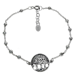 STERLING SILVER TREE OF LIFE BEAD BRACELET
