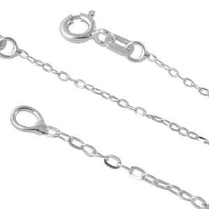 STERLING SILVER DIAMOND CUT ROLO 015 CHAIN (1.2MM)