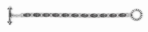TWISTED BLADE SILVER 6MM SMALL OVAL DAGGER BRACELET
