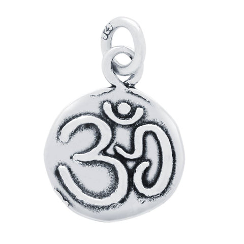 DOUBLE-SIDED OM AND LOTUS MEDALLION CHARM