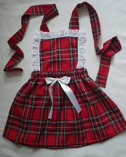 many styles unequal in performance various kinds of Baby's girl's Pinafore Dress Skirt Cute Baby Set Tartan Print Baby Girls  Clothes NEW