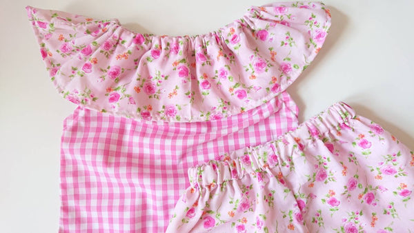 Beautiful Summer Floral cotton Baby/'s girl/'s Top and Bloomer set Cute Baby Set Baby Girls Clothes summer spring outfit NEW
