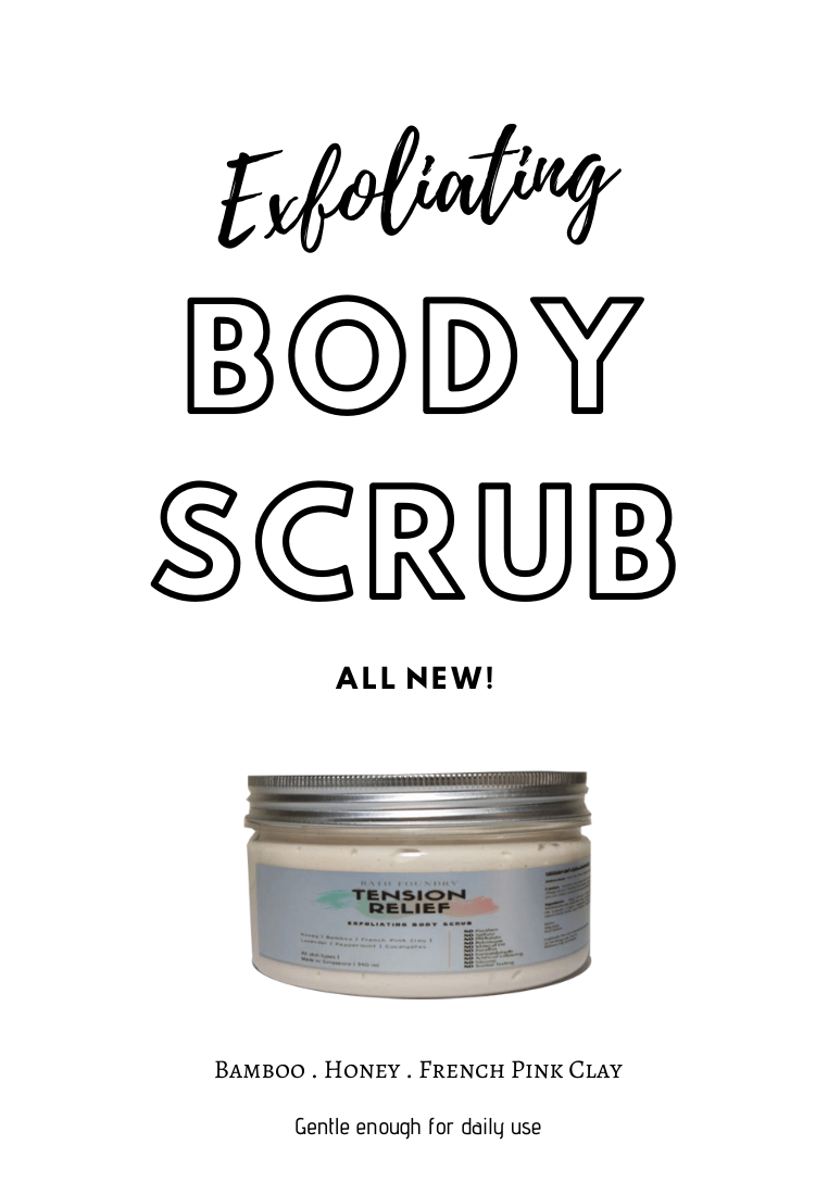Exfoliating Body Scrub 340 ml - Gentle exfoliation for daily use - Bamboo & French Clay