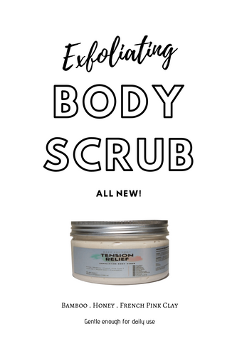 Exfoliating Body Scrub 340 ml - Gentle exfoliation for daily use - Bamboo, Honey & French Clay