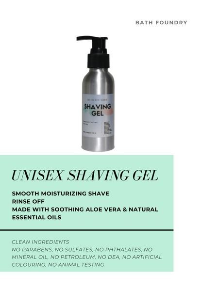 Shaving Gel 100 ml | Made with Aloe Vera | Smooth Moisturising & Soothing Shave | Clean Ingredients