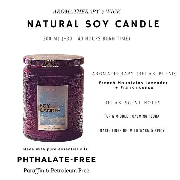Three Wick Natural Candle & Accessories Gift Set (with 3D unicorn gift box)