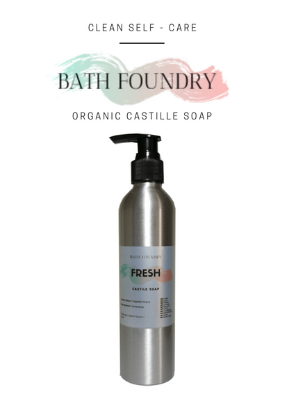 Liquid Castile Soap - Organic Natural - 8 available scents - 250ml