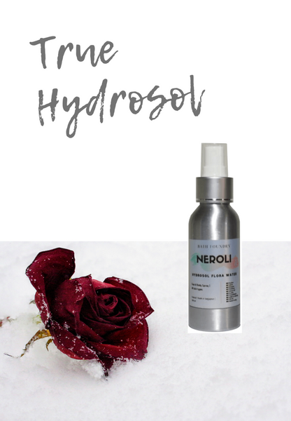 True Hydrosol Flower Water 100 ml | Rose, English Chamomile, Neroli | Soothe, tone & refresh skin