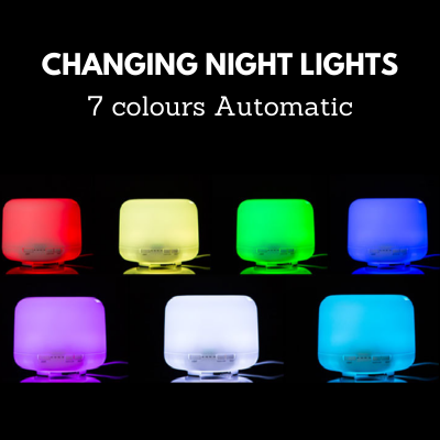Changing Night Light Aroma Diffuser 500ML capacity with remote control