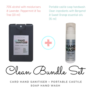 Clean Bundle ( Pocket Hand Sanitiser 20 ml + Pocket Hand Wash 15 ml)