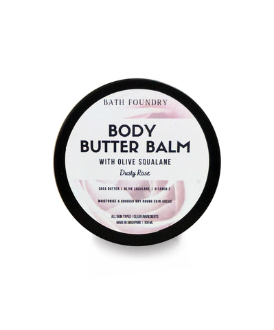 Shea Body Butter Balm in Dusty Rose, Contains Shea Butter, Squalane and Vitamin E