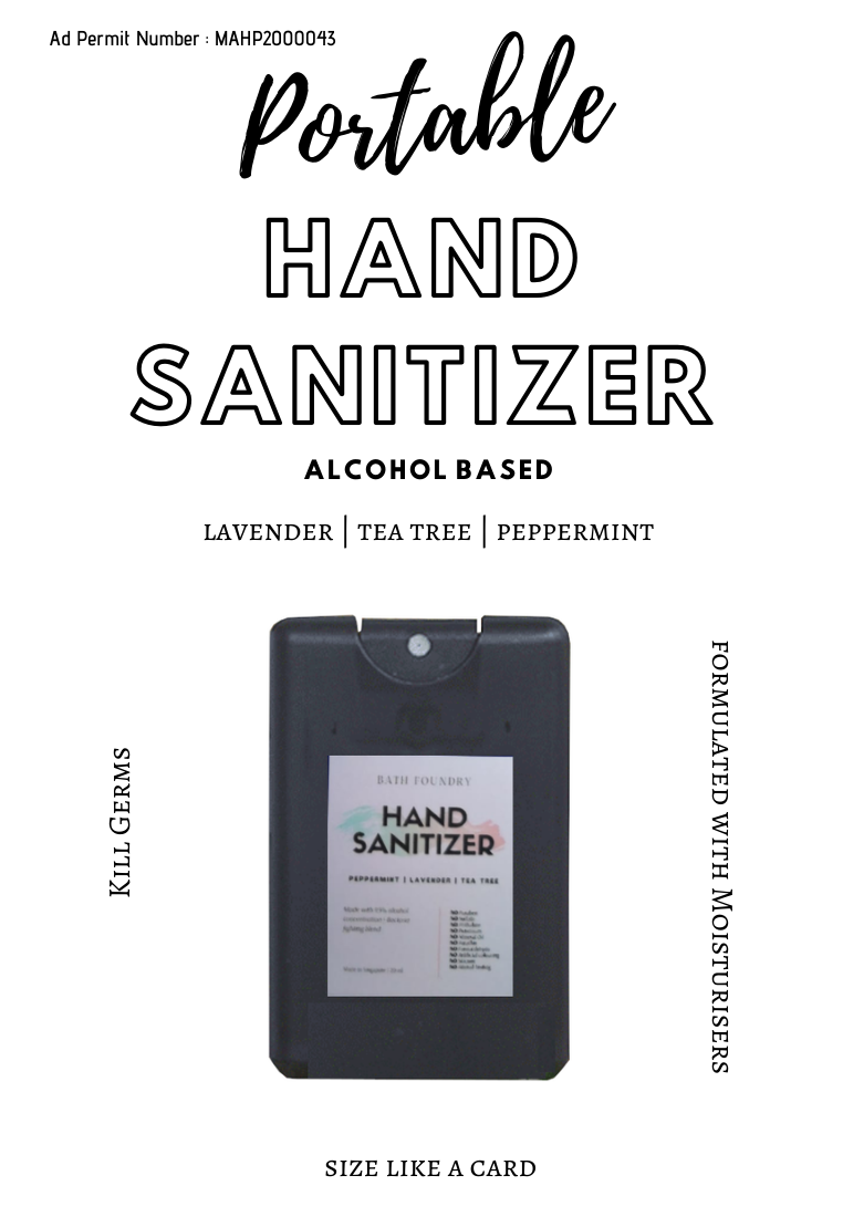 Hand Sanitizer 70% Alcohol with 95% Purity + Moisturisers & Pure Essential Oils 20 - 500 ml