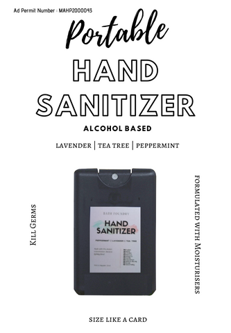 Hand Sanitizer 70% Alcohol with 95% Purity + Moisturisers & Pure Essential Oils 20 ml